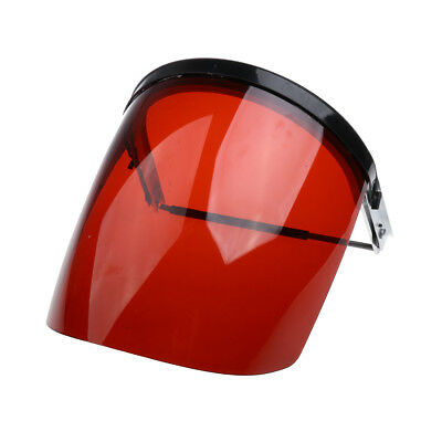 Safety Face Shield Mask Flip Up Visor Clear Protector Eye Protection Red