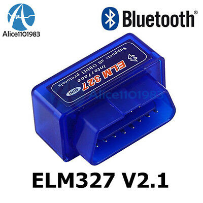 Mini ELM327 V2.1 OBD2 ODBII Bluetooth Diagnostic Car Auto Interface Car Scanner