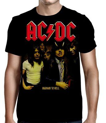 AC-DC - Highway To Hell - T SHIRT S-M-L-XL-2XL Brand New - Official T Shirt
