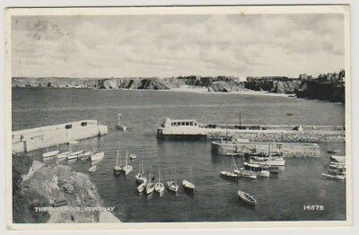 Cornwall postcard - The Harbour, Newquay - P/U 1953 (A1390)