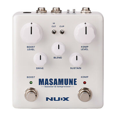 Nux NBK5 Masamune Booster and Compressor Effects Pedal - New