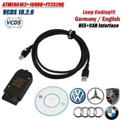 VCDS Release 18.2.0 HEX CAN Interface ATMEGA162+16V8+FT232RQ (Germany/Englis NEW