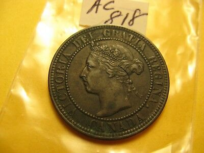 1898 H Large Cent Canada High Grade Coin Beauty ID#AC818.