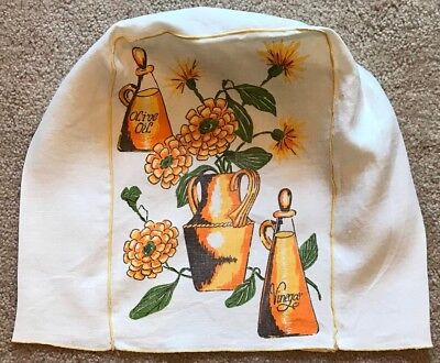 Vintage Retro CRUET Floral Coffee Maker Blender Appliance LINEN Cover