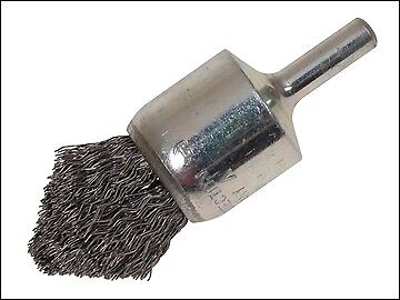 Lessmann Pointed End Brush with Shank 23/68 x 25mm 0.30 Steel Wire LES453162