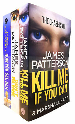 James patterson 3 Books Collection Set - Kill me, Don't Blink, Now You See Her