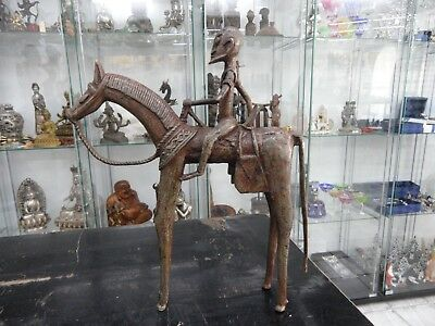 extra big old Dogon Bronze Rider 12 inch old Germany Collection from Dr. Basten