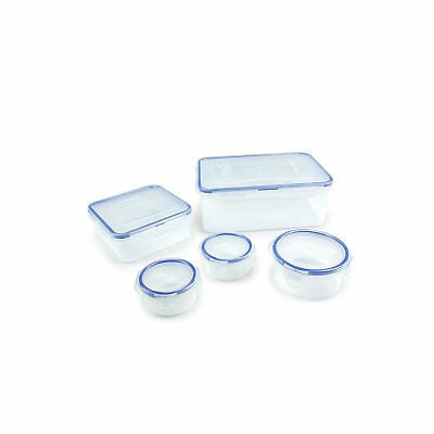 Lock & Lock 5 Piece Clear Multi-Functional Food Storage Lunch Box Container Set