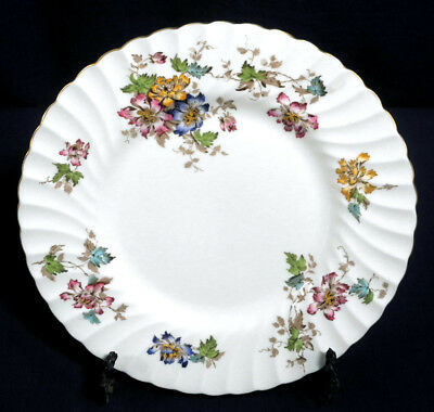 "Minton Fine Bone China England Vermont S-365 Luncheon Plate 9-1/8"" w/ Gold Trim"