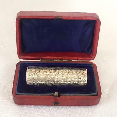 Antique Solid Silver Perfume Scent Bottle Original Presentation Box London 1884