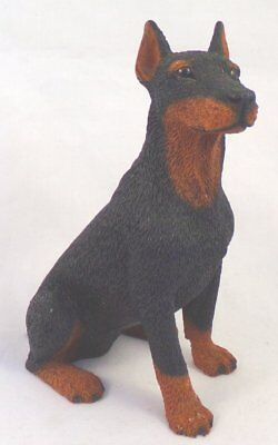 Made in Italy by Castagna Resin Doberman Pinscher Dog Figurine