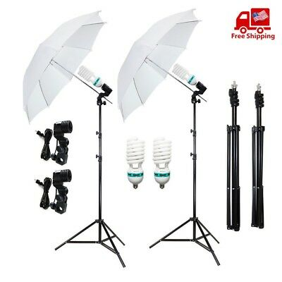 """2 X White 33"""" Umbrella Reflector Photography Stand Lighting Kit for Photo/Video"""