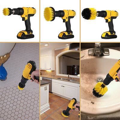 2018 Electric Drill Brush Grout Power Scrubber Cleaning Brush Tub Cleaner Tool