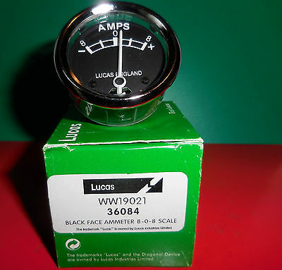 "BSA/CLASSIC BIKES...""LUCAS""  AMMETER (Suitable for 6volt systems)"