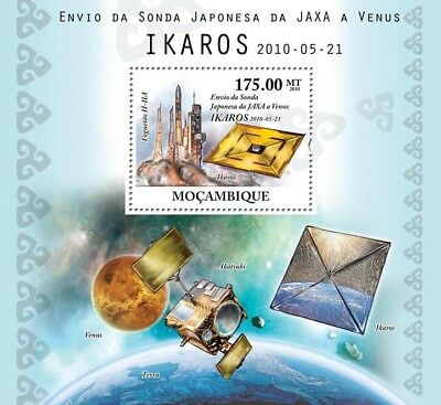 Japan/JAXA IKAROS Venus Spacecraft Probe Space Stamp Sheet #2 (2010 Mozambique)