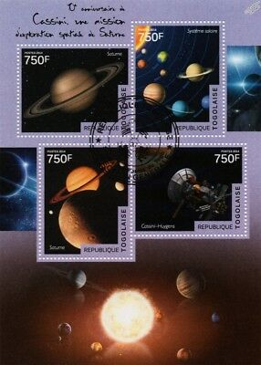 NASA/ESA CASSINI-Huygens Spacecraft Probe to Saturn Space Stamp Sheet/2014 Togo