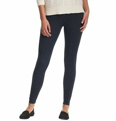 a30f10bc55490c NWT Ann Taylor Loft Lou & Grey Blue Back Zip Elastic Waist Stretchy Leggings  XXS
