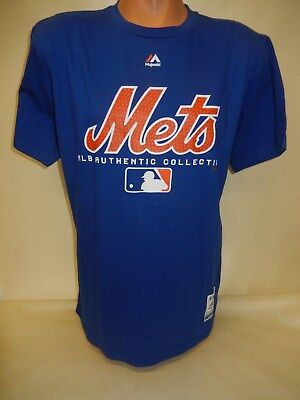 """8605 Mens Majestic NEW YORK METS """"Collection"""" Baseball Jersey Shirt Blue New"""