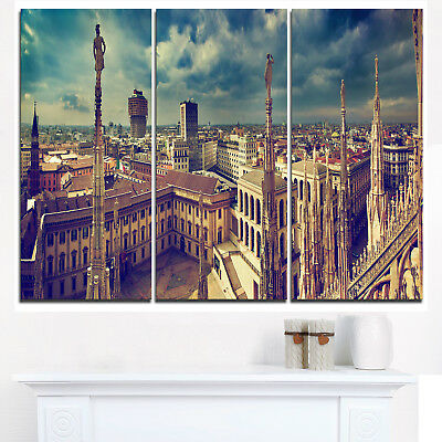 View on Royal Palace Palazzo Realle - Cityscape Canvas print - Multi-color