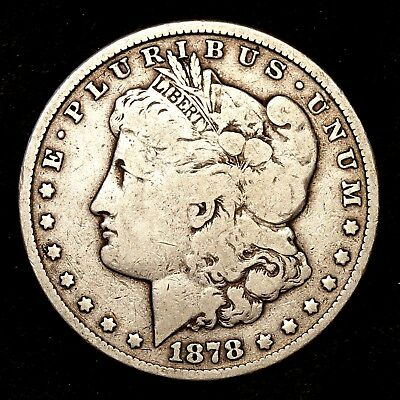 1878 S ~**1ST YEAR ISSUE**~ Silver Morgan Dollar Rare US Old Antique Coin! #J20