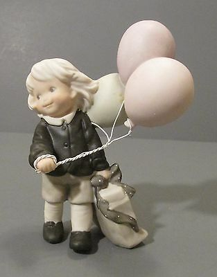 """1996 Enesco Pretty as a Picture """"Let The Celebration Begin"""" Holding Balloons Fig"""