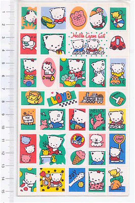 CAPER CAT 1991 Dainty Taiwan sheet with tiny stickers - adesive mini