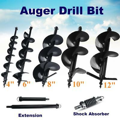 "4"" 6"" 8"" 10"" 12"" Auger Bits Drill Shock Absorber Extension for Post Hole Digger"