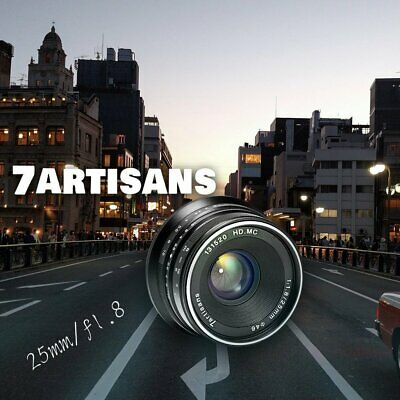 7 Artisans 25mm F1.8 Single Focus Length Manual EOS M Mount Fix Lens For Canon