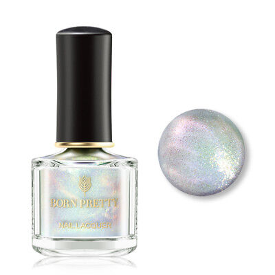 BORN PRETTY Mermaid Pearl Glimmer Nail Polish Top Coat Glitter Nail Varnish 6ml