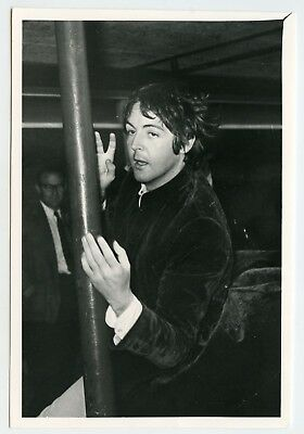 The Beatles Paul McCartney 1968 Heathrow UK Vintage Photograph