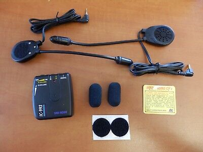 Intercom IC993 Helmet 2 Helmet Gegenspechanlage Helm Headset AUX Input W001
