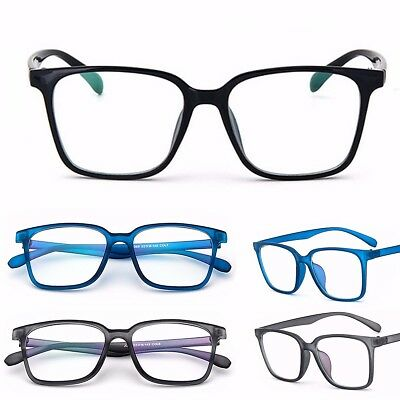 Fashion Men Women Square Full Frame Clear Lens Glasses PC Eyewear Frame Eyeglass
