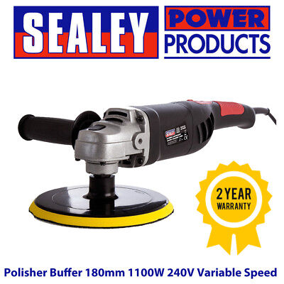 Sealey ER1700P Polisher Buffer 180mm 1100W 240V Variable Speed Lightweight