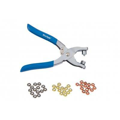 """Eyelet Pliers 150mm (6"""") with 100pc 4mm Brass Effect Eyelets, PVC Dipped Handles"""