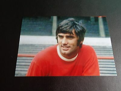 """MANCHESTER UNITED player Geroge Best (S)  6""""x4"""" PHOTO REPRINT"""