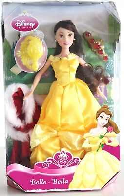Disney Beauty & the Beast Belle Collectors Winter Special Ed, Fur Cape/Jewels