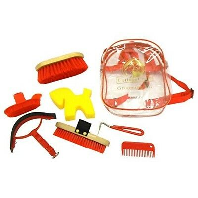 Cottage Craft Grooming Kit - Red - Horse Set Equestrian Cleaning