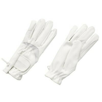 Harry Hall Domy Suede Gloves - White, X-small - Riding Horse Colours Sizes White