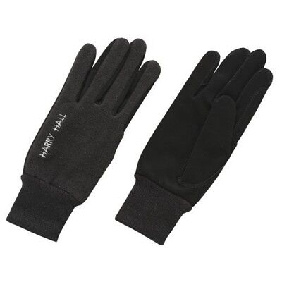 Harry Hall Fleece/domy Suede Gloves - Black, Small - Fleece Domy Glv2