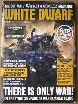 White Dwarf September 2017 Warhammer 40,000 30 Years Anniversary & posters