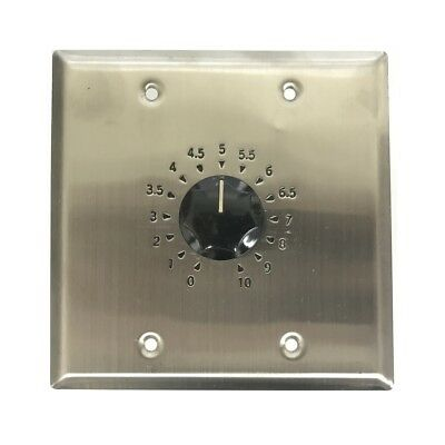 Valcom / Clarity S-562 45 Watt Speaker Attenuator / 15 position tap / Stainless