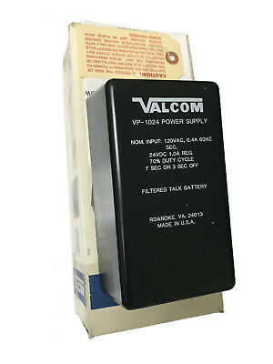 Valcom VP-1024 Power Supply Adapter 24 volts, 1 amp NOS
