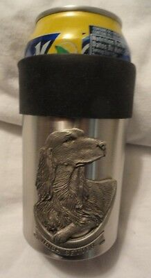 Stainless Steel Can Cooler Cozy with Pewter Irish Setter New in Box
