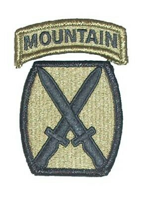 US Army 10th Mountain Division MULTICAM OCP Uniform Klett patch
