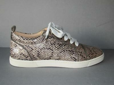 Authentic New  Louboutin 38.5 Gonoliere Womans Glitter Flat Sneakers Nib