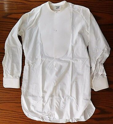 Starched tunic dress shirt size 15 mens vintage Edwardian John Barker Kensington