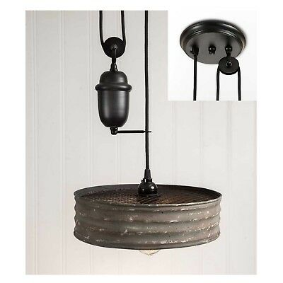Riddle Sifter Pull Down Old Vintage Style Pendant Light Chandelier Adjust Height