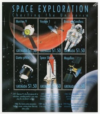 Space Exploration: Charting The Universe Stamp Sheet #2 (1999 Grenada)