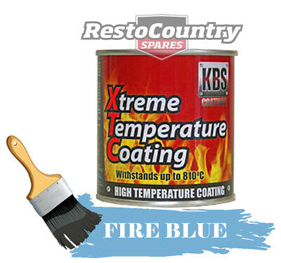 KBS Xtreme Temp Coating FIRE BLUE 250ml High Heat Resistant 260°C - 812°C