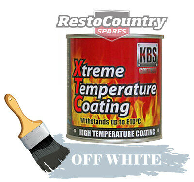 KBS Xtreme Temp Coating OFF WHITE 250ml High Heat Resistant 260°C - 812°C